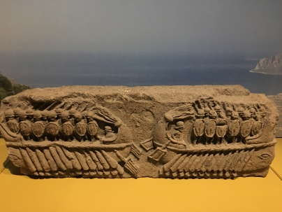 Relief of two warships. Naples, stone, 200-30BC