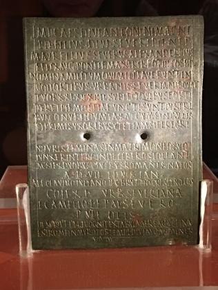 Military Diploma of Lucius Camelius Severus Quartro, bronze, 224AD