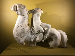 Neried riding a sea monster Baiae, marble, 1st Centruy AD