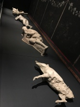 Castings of the bodies found in Pompeii