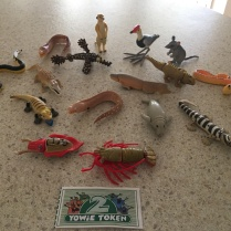 90's Yowie figurines - the kids were stoked to find these at the market.