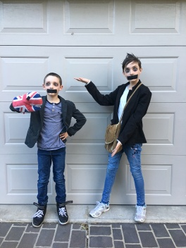 Tape Face Boy for Halloween 2017.